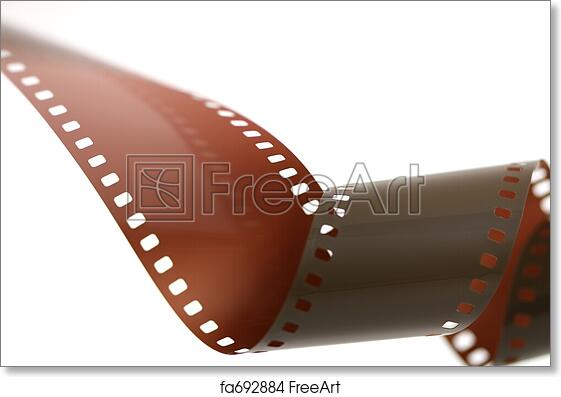 Free art print of 35mm film roll unfurled over white