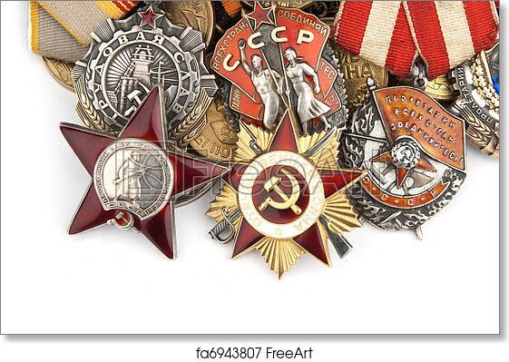 Free Art Print Of World War Ii Russian Military Medals