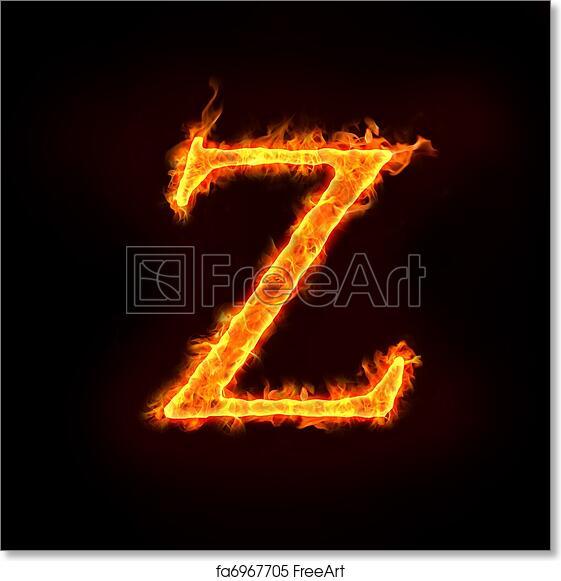 Free art print of Fire alphabets, Z