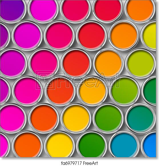 picture about Free Printable Color Chart identified as No cost artwork print of Shade paint tin cans ultimate belief