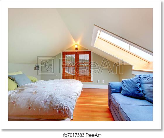 Free art print of Attic bedroom with low ceiling
