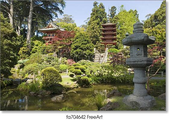 Free Art Print Of Lantern Japanese Garden