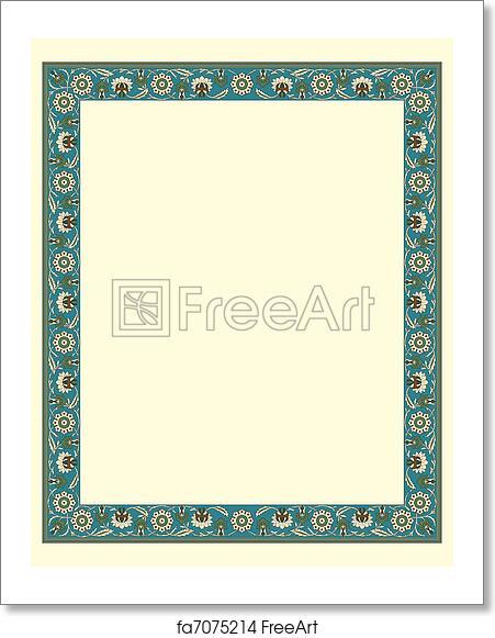 Free art print of Arabesque border frame. Arabesque border frame ...