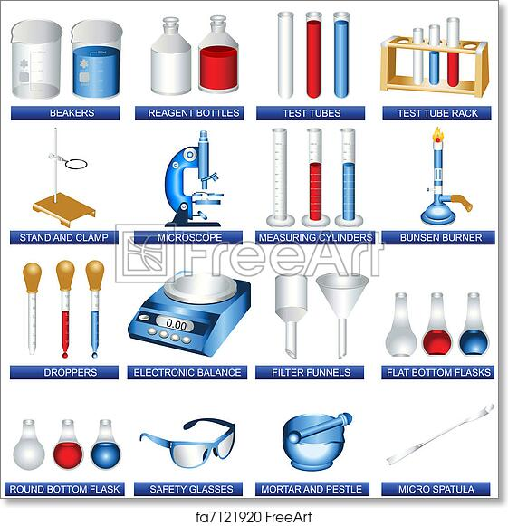 free art print of laboratory tools