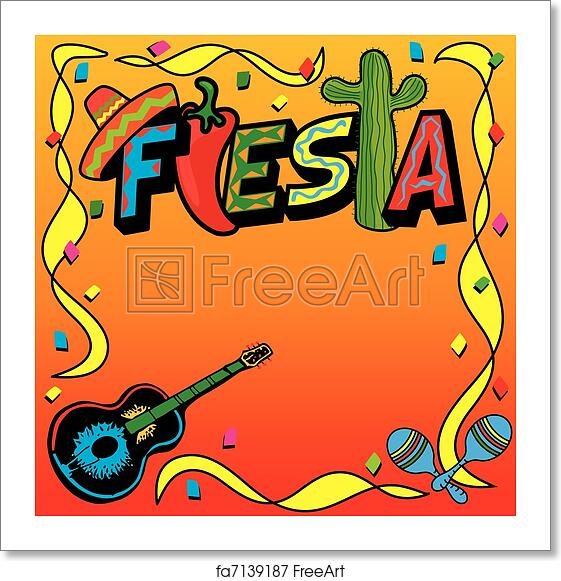 Free Art Print Of Mexican Fiesta Party Invitation