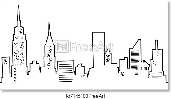 Progetti New York Skyline Wall Clock   The Longest Stay