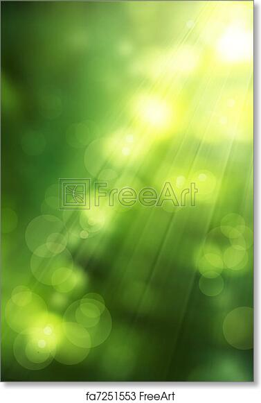 free art print of art abstract nature background spring greens
