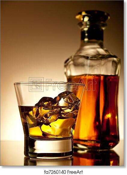free art print of whiskey on the rocks old fashion whiskey on the