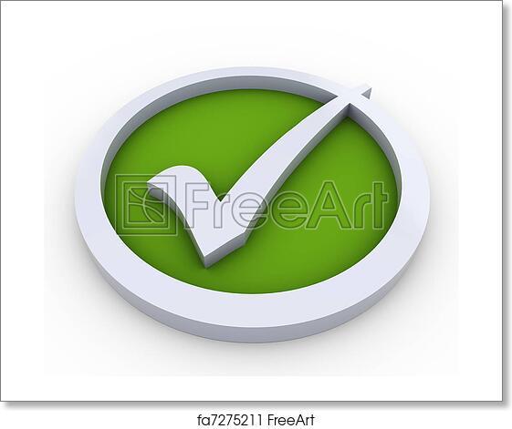 Free art print of 3d check mark symbol