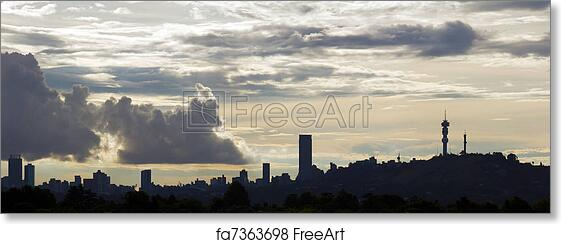 Free art print of johannesburg skyline silhouette of the free art print of johannesburg skyline thecheapjerseys Images