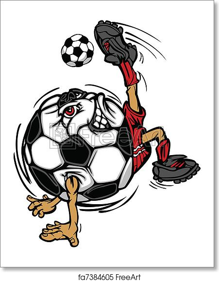 Free Art Print Of Soccer Football Ball Player Cartoon