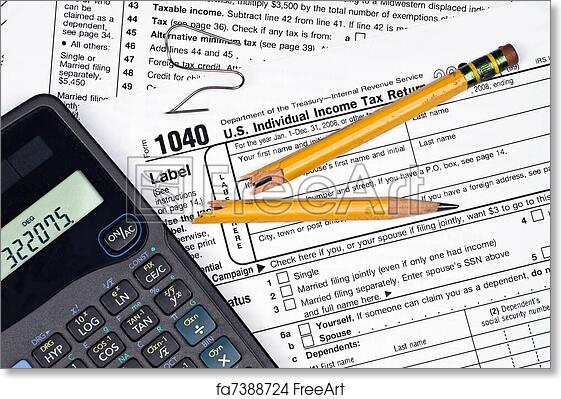 Free Art Print Of Frustration Of Filing Taxes A Tax Form