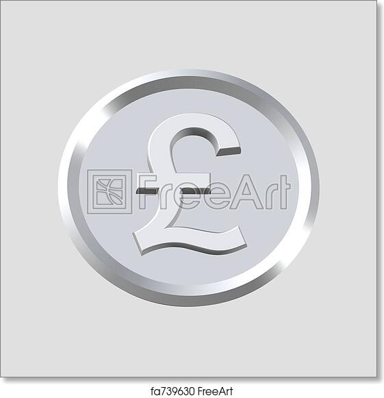 Free Art Print Of Pounds Sterling Symbol 3d Pounds Sterling Symbol