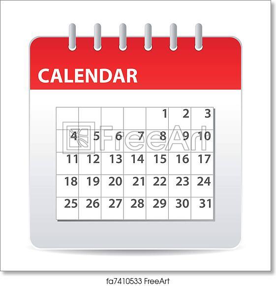 Calendar Days Icon.Free Art Print Of Calendar Icon
