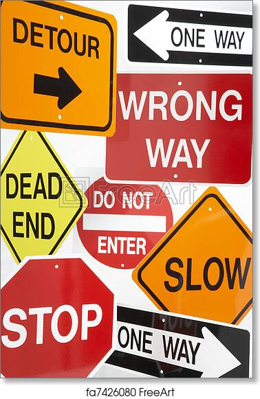 photo relating to Free Printable Road Signs named Cost-free artwork print of Community Of Highway Indicators