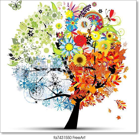 Free art print of Four seasons - spring, summer, autumn, winter. Art ...