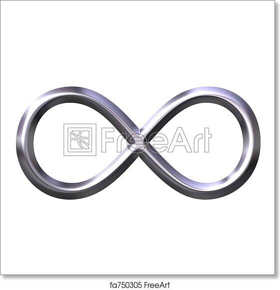 Free Art Print Of 3d Silver Infinity Symbol Freeart Fa750305