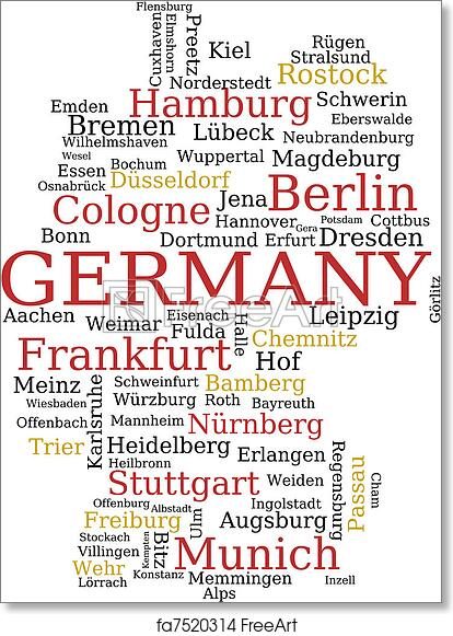 Map Of Germany Memmingen.Free Art Print Of Germany Map