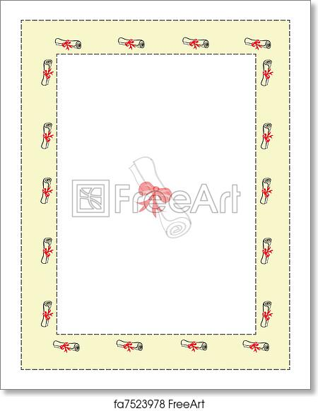 Free Art Print Of Letter Of Graduation Letter Ir Certification Of