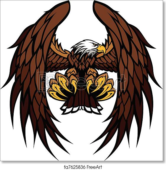 Free Art Print Of Eagle Wings And Claws Mascot Vector