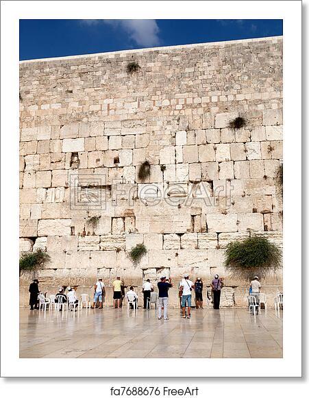 Free art print of Prayer at the wailing wall (western wall), Jerusalem,  Israel