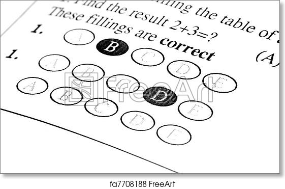 Free art print of Exam Answer sheet
