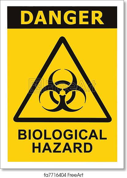 Free Art Print Of Biohazard Symbol Sign Of Biological Threat Alert