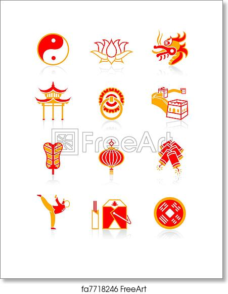 Free Art Print Of Chinese Culture Icons Juicy Series Traditional