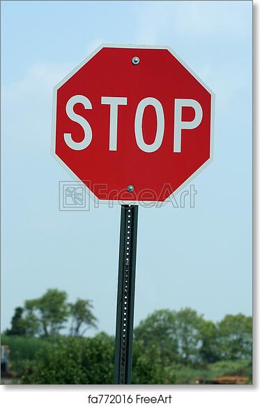 photograph regarding Printable Stop Sign named Totally free artwork print of Reduce Signal