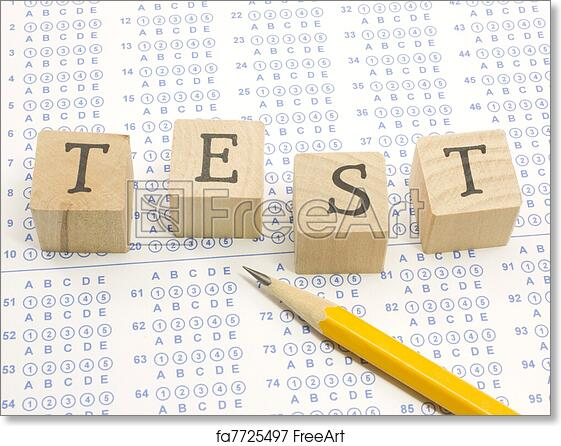 picture relating to Free Printable Scantron Bubble Sheet identified as Cost-free artwork print of Scantron Check blocks and pencil.