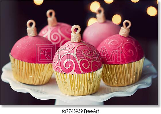 Christmas Cupcakes.Free Art Print Of Christmas Cupcakes