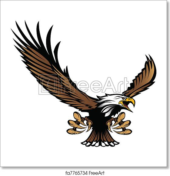 Free art print of eagle mascot flying with talons graphic mascot free art print of eagle mascot flying with talons altavistaventures Gallery