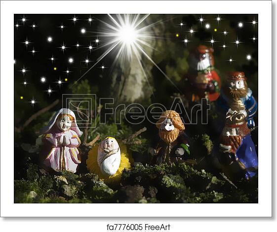three wise men art print holy family christmas cards and three wise men