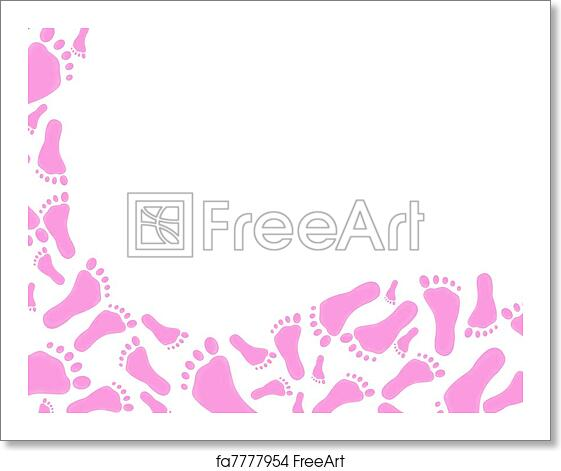 Free art print of Baby Frame for girl. A baby girl frame for message ...