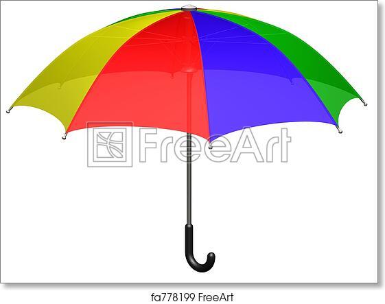 a737fdd8ecf88 Free art print of Umbrella. Open colored umbrella (3d render ...