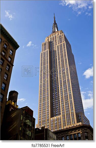 free art print of facade of empire state building in new york