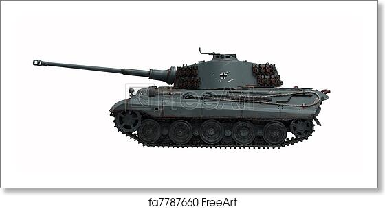 Free Art Print Of Tank King Tiger 2 The Model Tank King Tiger 2 Of
