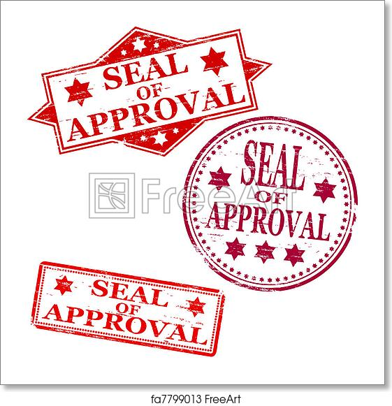 free art print of seal of approval stamp seal of approval rubber