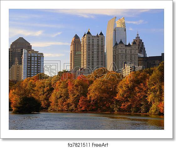 Free art print of Atlanta From Piedmont Park