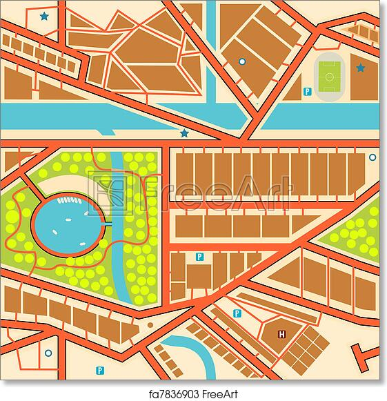 Free art print of Seamless city map