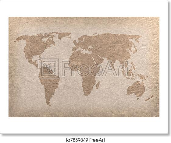 Free art print of vintage world map paper craft vintage world map free art print of vintage world map paper craft gumiabroncs Choice Image