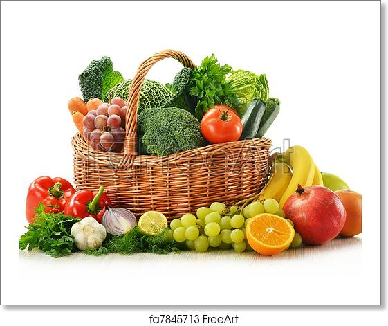 Free art print of Composition with vegetables and fruits ...