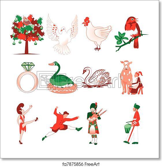 Free art print of 12 Days of Christmas