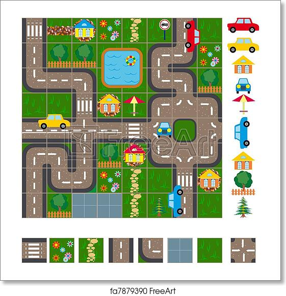 Free art print of Map scheme of streets. Map / Layout of the streets Scheme Map on