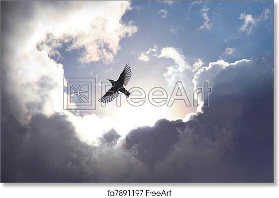 Free Art Print Of Angel Bird In Heaven