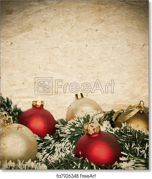Free Art Print Of Vintage Christmas Background