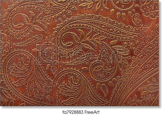 picture regarding Printable Leather Tooling Patterns referred to as No cost artwork print of Tooled floral habit in just leather-based