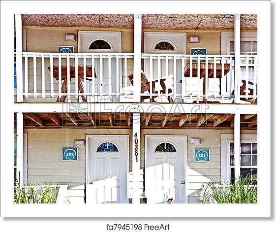 Free Art Print Of Motel In The Outer Banks, USA