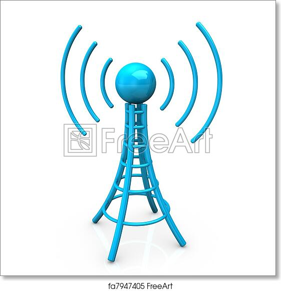 Free art print of Blue Antenna Tower