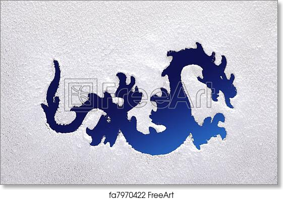 Free Art Print Of Dragon On A Frozen Window Photography Of A Dragon